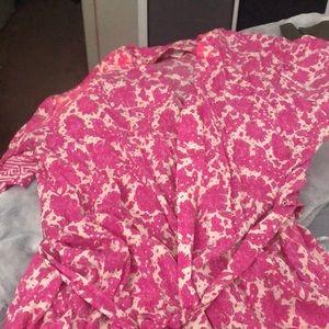 Pink tie kimono